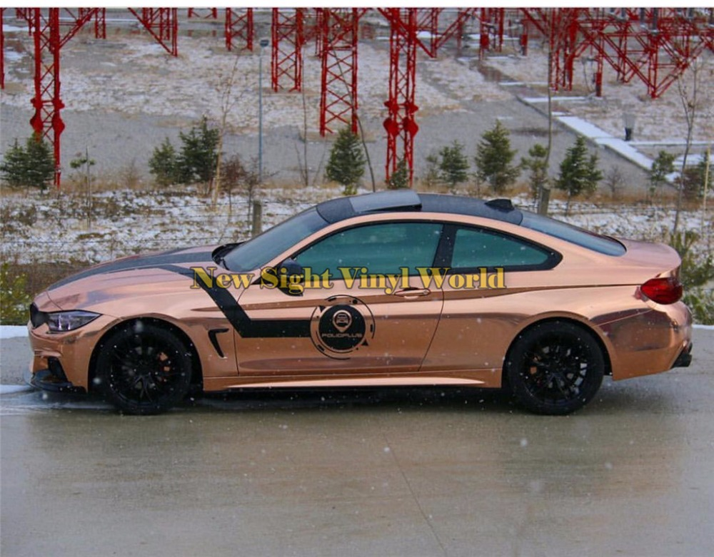 Best Quality Flexible Mirror Chrome Rose Gold Vinyl Car Body Wrap For Car Wrapping Film Bubble Free Size:1.52*20M/Roll anon маска сноубордическая anon somerset pellow gold chrome