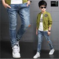 Fashon Spring And Autumn 2016 Children's Clothing Boys Denim Trousers  Male Child Big Boy Kids Jeans Pants