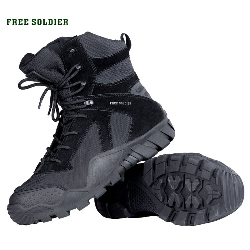 FREE SOLDIER outdoor sports camping tactical military shoes camouflage combat hiking hunting boots for men
