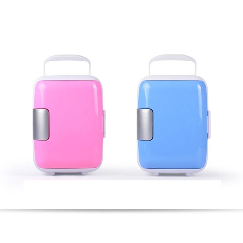 Car Mini Fridge Portable Thermoelectric Cooler Warmer Travel Refrigerator 12V 4L Dropshipping Sept4 mini 4l portable refrigerator fridge cooler warmer