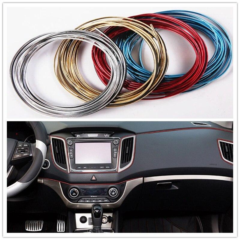 5 M Auto Styling Interieur Decoratie Strips Auto Accessoires Voor Peugeot 206 301 307 406 407 207 208 308 508 2008 3008 4008 5008