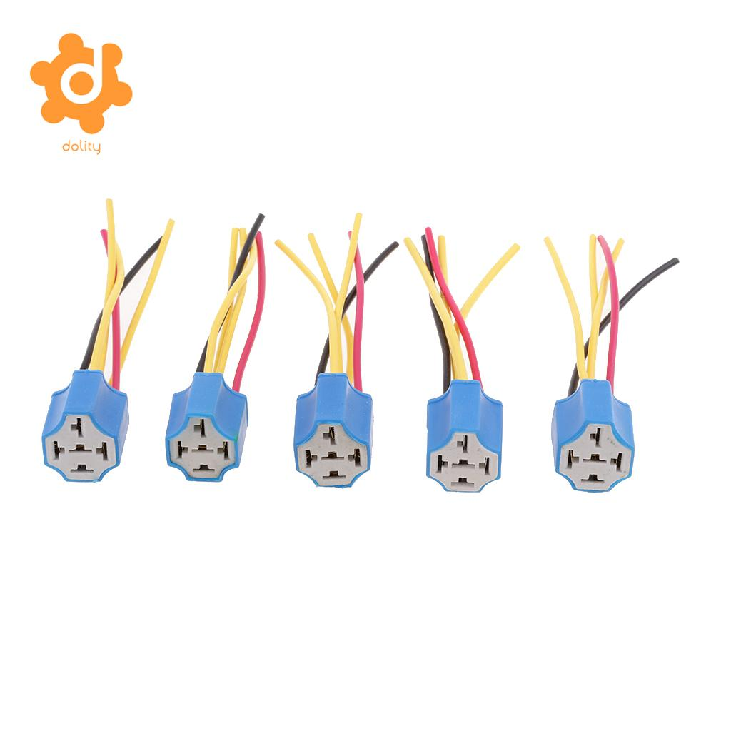Detail Feedback Questions About 5 Pieces Automotive Pre Wired Pin Prong Relay Pigtail Socket Connector Holder Base On Alibaba Group
