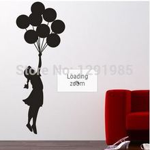 Banksy Balloon Floating Wall Vinyl Stickers Art Decal Reusable & Removable Decal 2017 fashion custom made Poster