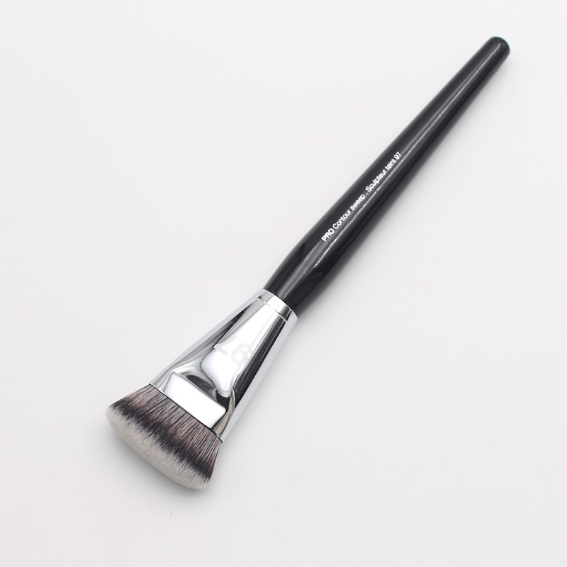 New Arrival Loog Black Handle Pro Contour Sweep  Sculpteur Teint 97 Foundation Makeup Brushes menu чаша black contour