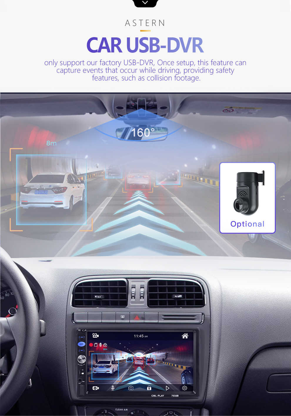 2din Car Radio 7 inch Touch mirrorlink Android Player subwoofer DVR Player  Autoradio Bluetooth Rear View Camera tape recorder