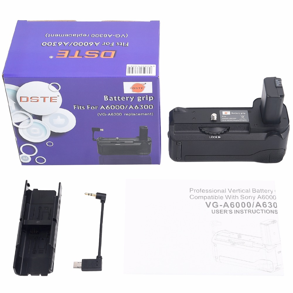 DSTE VG-6300 Battery Grip for Sony A6300 A6000 DSLR Camera