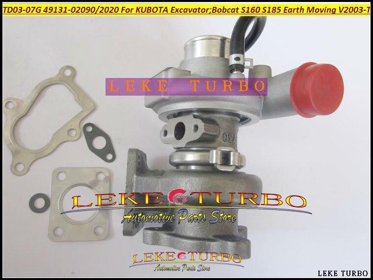 CoöPeratieve Turbo Td03-7g 49131-02090 49131-02020 49131-02010 Turbo Voor Kubota Grondverzet Graafmachine Voor Bobcat S160 S185 V2003-t