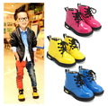 Hot Selling Children's Spring&Autumn Ankle Boots Boys&Girls Martin Boots Casual Waterproof Patent Leather Shoes Drop Shipping
