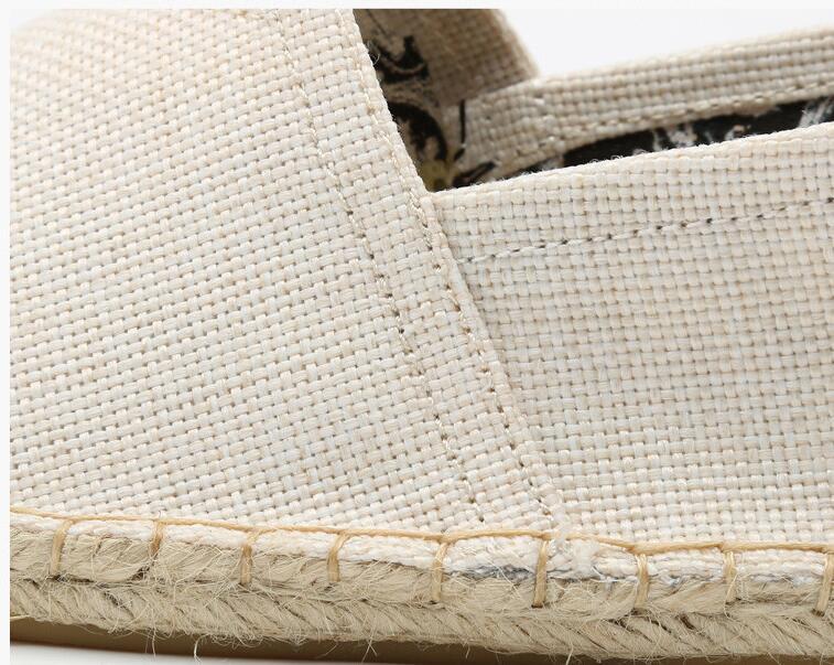 gris Nouveau Mocassins Slip Appartements Chaussures En Toile Mode Espadrilles jaune Amateurs Casual Beige Alpargata Femmes Sur Chanvre ZBrq1pwxZ