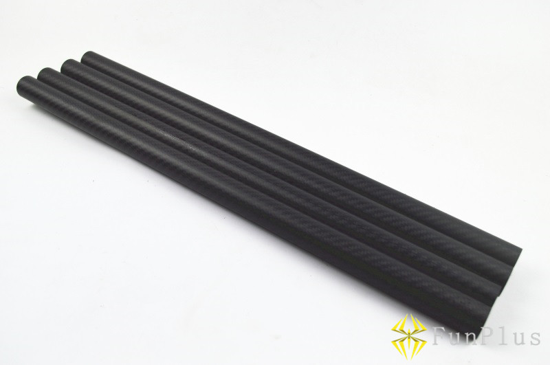 4pcs DIY OD 50mm X ID 46mm X 500mm 3K Full Carbon Fiber Tube 50 X 46 X 500mm Tubes Twill Matte Tail Boom Quadcopter Arms