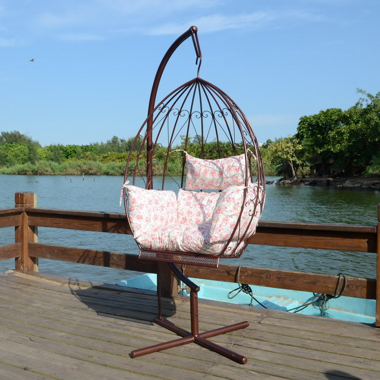 Indoor And Outdoor Leisure Basket Iron Chairs Rocking Chair Swing Hanging  Bar Hanging Balconies, Wrought Iron Chair Swing Hangin In Patio Swings From  ...
