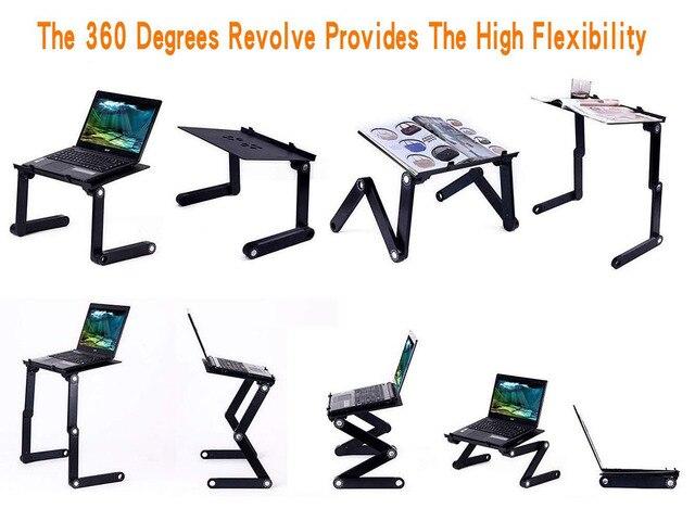 Supporto da tavolo per Laptop con Design ergonomico pieghevole regolabile supporto per Notebook per Ultrabook, Netbook o Tablet con tappetino per Mouse 3