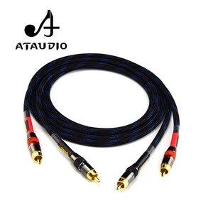 Image 3 - ATAUDIO Hifi Cinch kabel Hochwertige 4N OFC HIFI RCA STECKER auf Stecker Audio Kabel
