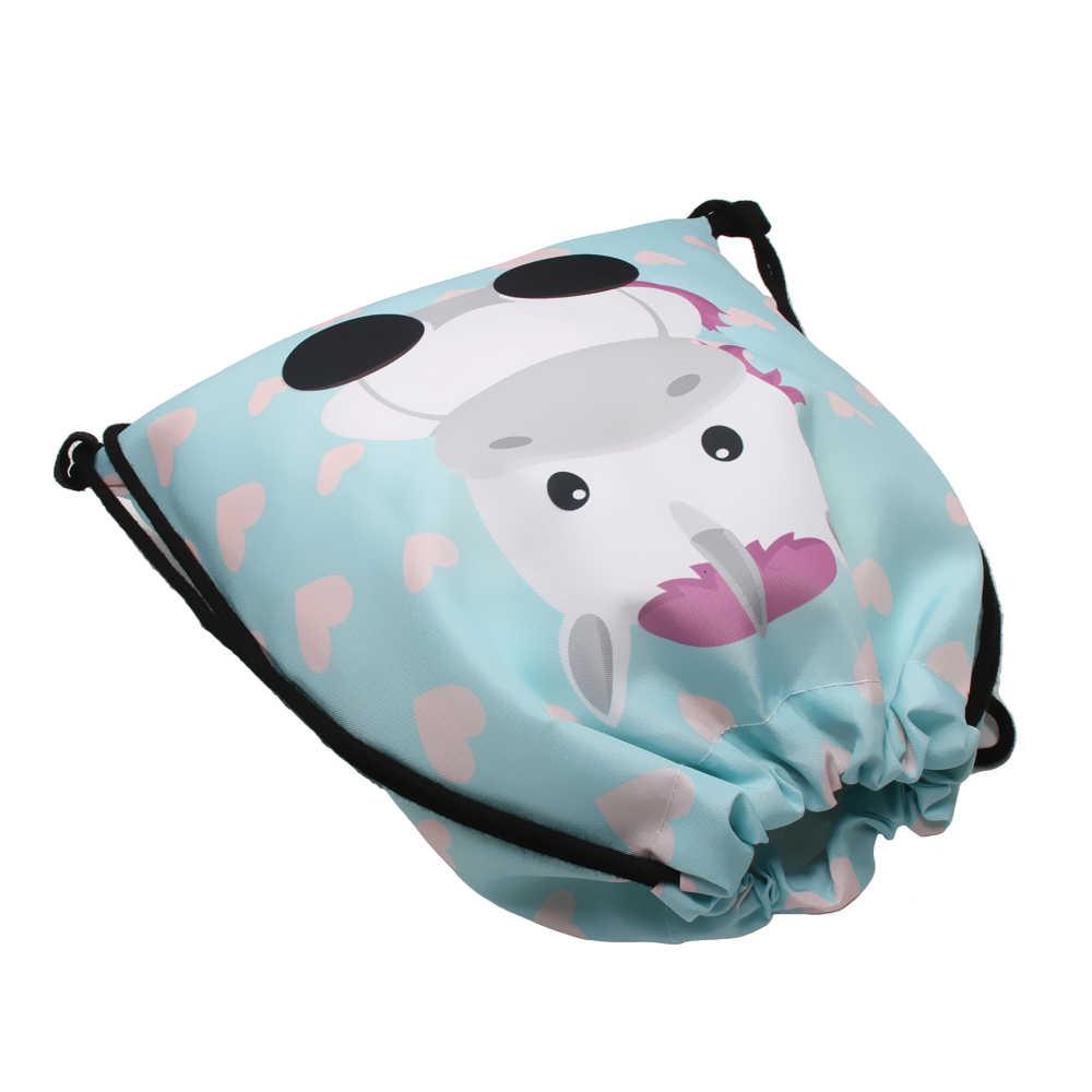 Deanfun damski plecak na sznurku 2 sztuk zestaw 3D drukowane słodkie jednorożec wielofunkcyjny do przechowywania 015