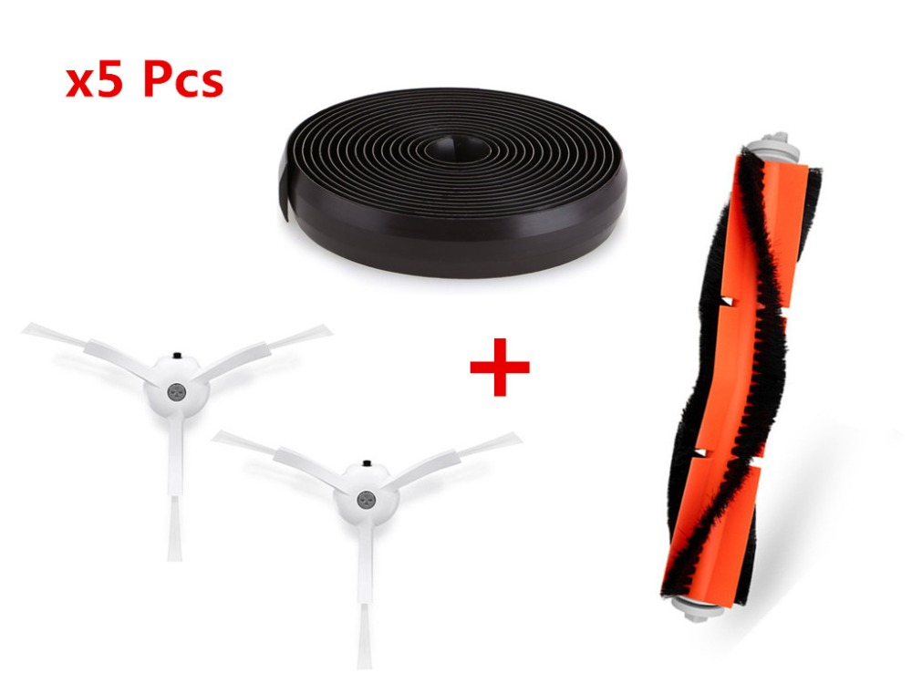 Home Appliances Vacuum Cleaner Spare Parts For Xiaomi Roborock Mi Robot Kits 2pc Filter 2pcs Side Brush 1pc Main Brush 1pc Virtual Magnetic Wa Excellent Quality Home Appliance Parts