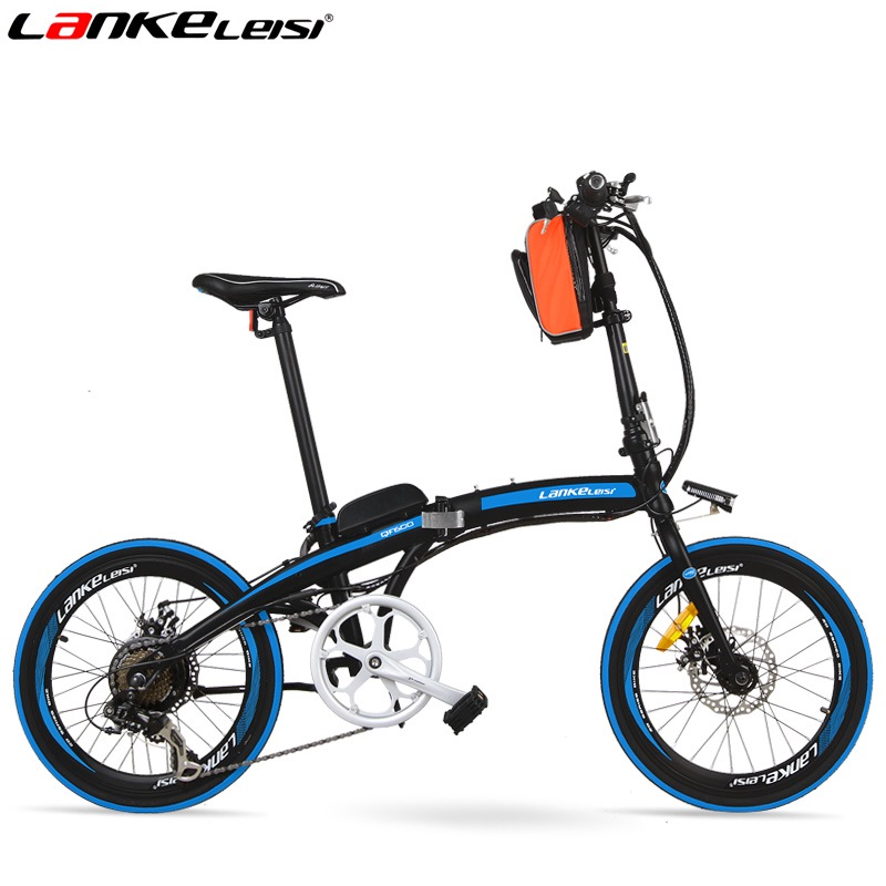 QF600 7 Speed, Fast-folding, 20, 36/48V, 240W, Electric Bicycle, Aluminum Alloy Frame, Super Light, Folding Pedal, Disc Brake.