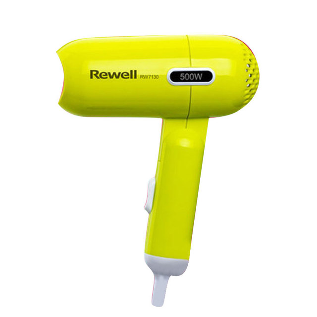 Mini children hair dryer With hook and 180-degree foldable handle Super silent Lovely shape Fresh colors 1.7m Long wire 500w