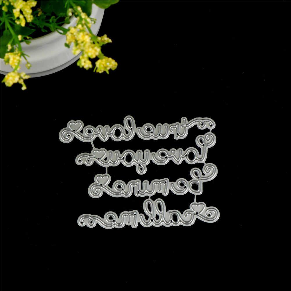 מתכת ולנטיין שמח יום מתכת ליצור בולים הבלטות כרטיס סטנסיל דקורטיבי רעיונות מלאכת פלדה למות לחתוך מת חיתוך