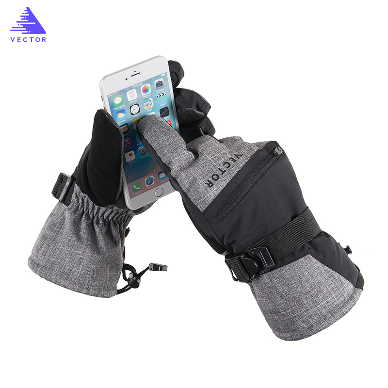 VECTOR Skiing Gloves for Men Women Winter Warm Screen Touch Gloves Waterproof Windproof Motorcycle Snowboard Gloves bluetooth wireless sport gloves earphones headsets headphones winter warm gloves touch screen handsfree calls mp3 play for phone