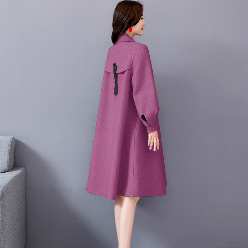 Slim rouge Vêtements Automne Vestes Veste Manteau Oaired Parka lavande 2019 Survêtement Beige De Longue Et Printemps Nouveau Manteaux Laine Femmes Femme wpRRO4q