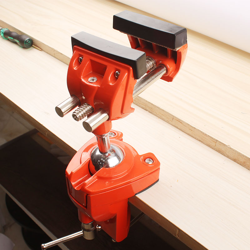 "3"" Design Patents Universal Table Vise Aluminium Swivel Tabletop Clamp Vice Tilts Rotate 360 Degree Universal Work"