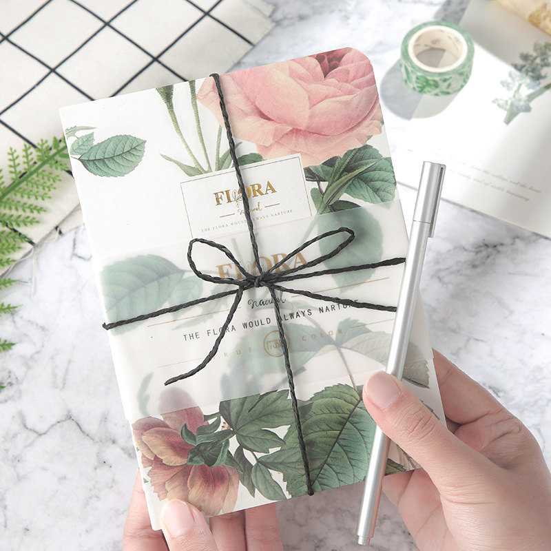 New Arrival Retro Floral Flower Schedule Books