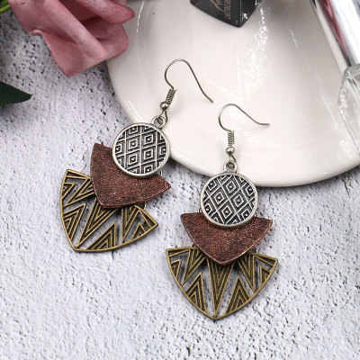 New Products Promotional Fashion Bohemian Vintage Multi-Piece Geometric Pendant Earrings Boho Style Jewelry