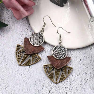 מוצרים חדשים קידום מכירות אופנה בוהמי בציר רב חתיכה גיאומטרי תליון עגילי Boho סגנון תכשיטים