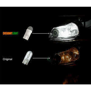 Image 5 - CNSUNNYLIGHT 10Pcs Canbus T10 W5W 168 194 SMD LED Car Wedge Side Mini Bulb Lamp For Car Tail Parking Dome Door Map Light 6000K
