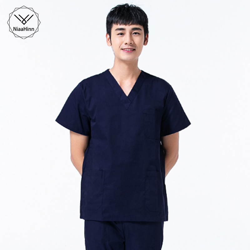 Woman Clinical Uniforms Medical Clothing Tops Hospital Surgical Tops Scrubs Nursing Uniforms Pharmacy Summer Lab Coat Medical