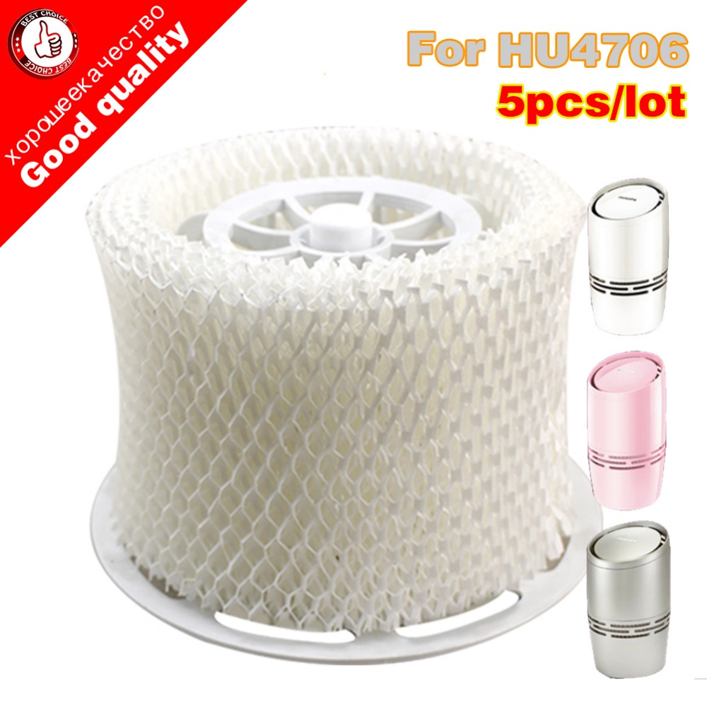 5pcs/lot Free shipping HU4706 humidifier filters Filter bacteria and scale for Philips HU4706 Humidifier Parts 1 piece humidifier parts hepa filter bacteria and scale replacement for philips hu4706 hu4136