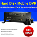 8CH Hard Disk Mobile DVR , H.264 Car DVR , Motion Detect ,Cycle Recording MDVR,G-Sensor, Bus DVR ,Support 2T Hard Disk