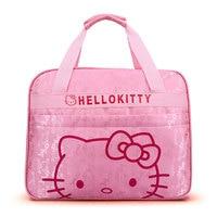 Vrouwen Hello Kitty Tassen Jong Lady Pretty Cartoon Tas Grote Capaciteit Roze Nylon Handtas voor Kinderen Meisjes Verjaardagscadeau