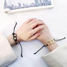 25c9220295da Japonés y coreano de estudiante de moda Unisex estilo pulsera pareja  amantes de regalo marea cuerda Simple hecho a mano brazalet.