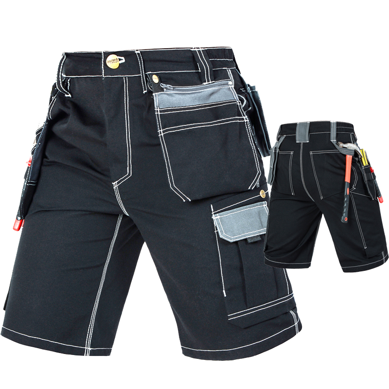 Men's Durable Multi-pocket Work Pants Cargo Work Shorts Workwear For Men