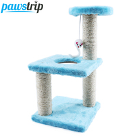 Three Layers Cat Climbing Tree False Mouse Pet Cat Toys Scratch Board 20*15*40cm