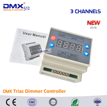Dhl free shipping 5PCS DMX302 DMX triac dimmer led brightness controller Trailing edge 3CH x1A/CH for LED strip LED panel light(China (Mainland))