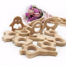 1pc/lot wooden beads handmade teethers wooden fish bird panda wooden baby gift Accessories Bracelet/Necklace Pendant toy(China)