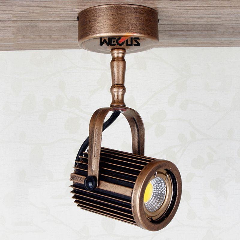 Retro Style Led Ceiling Lights Adjustable Angle Clothing: European Style Retro Long Pole LED Spotlights, Clothing