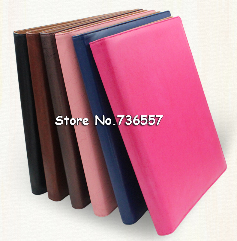 a4 PU leather business conference manager file folder agreement - leather resume portfolio