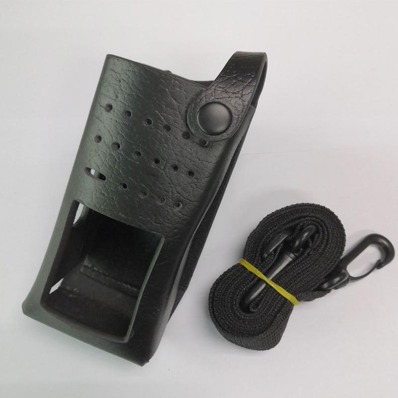 Leather Case Holster Holder For Motorola DEP550 XPR3300 XPR3500 Walkie Talkie