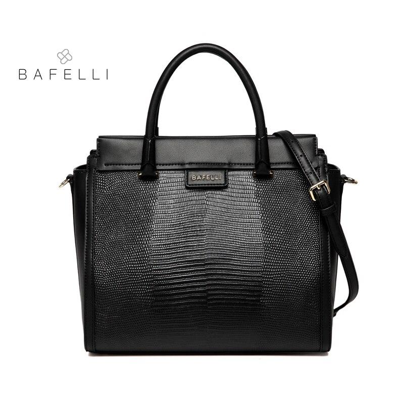 BAFELLI sac femme fendu cuir lézard motif trapèze sac bandoulière femme marques célèbres luxe sacos de mujer bolsa de couro