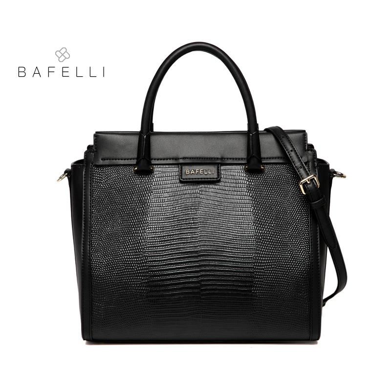BAFELLI women handbag split leather Lizard pattern trapeze shoulder bag women famous brands luxury bolsos mujer womens bags