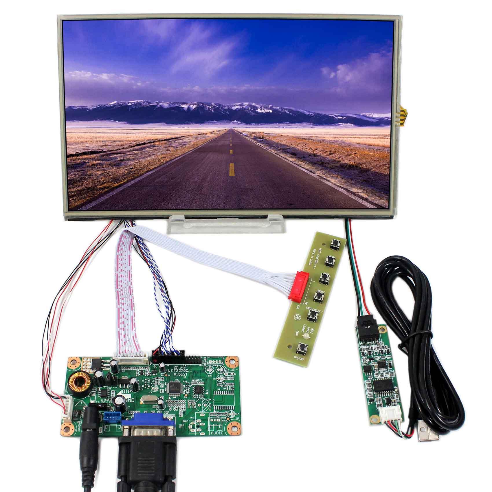 10.1inch B101XAN01 1366x768 Resistive Touch LCD Screen VS101TP-A2+VGA LCD Controller Board RT2270C-A vga lcd controller board rt2270c 8 4inch 640x480 aa084vc03 lcd screen