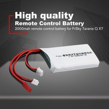 7.4V 2S 2000mAh 8C Rechargeable Remote Control Li-Battery Transmitter Battery for FrSky Taranis Q X7 RC Models Parts high quality black white frsky accst taranis q x7 transmitter spare part protective remote control cover shell for rc models