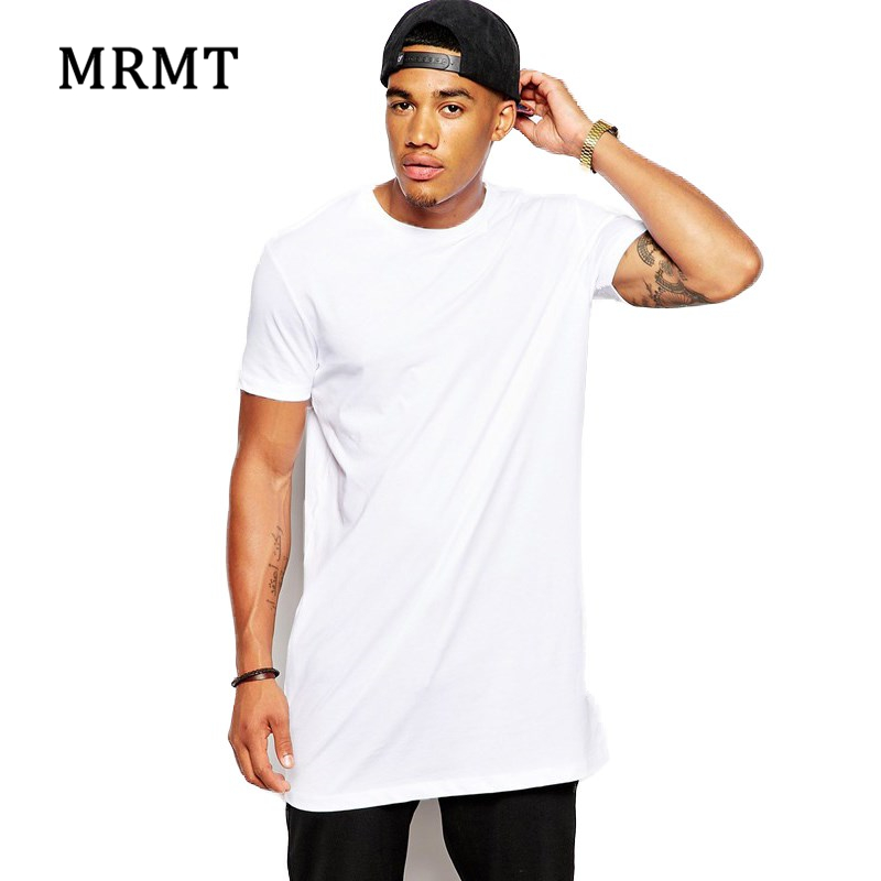 2018 brand new men 39 s clothing white long t shirt hip hop streetwear t shirt extra long length. Black Bedroom Furniture Sets. Home Design Ideas