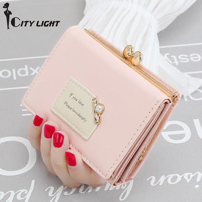 CITY LIGHT Brand New Arrival Women Wallets Female Short Design Fashion Three Fold Purse Simple Student Clutch new arrival ship pattern design brooch for female