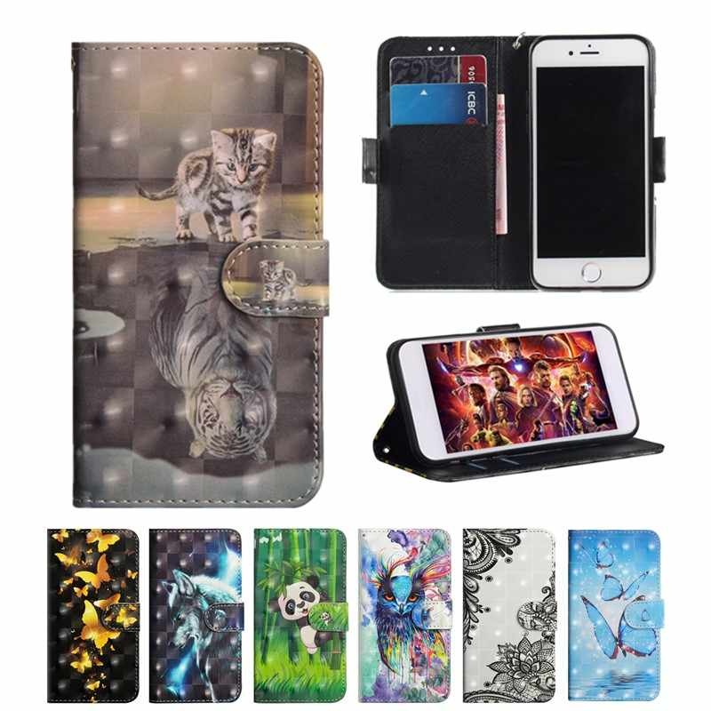 JYERAECOM Flip PU Leather + Wallet Cover Case For Huawei Honor 7X 8X 10 Nova 3i 3 Y6 2018 Y5 2017 Y3 P20 pro Mate 20 lite Case