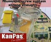 Kanpas ориентированная Лупа с компасом линза для карты Бесплатная