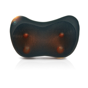 Image 2 - Boyun masajı omuz arka bacak vücut masaj yastığı elektrikli Shiatsu Spa ev/araba gevşeme yastık ile LED ışık ısı masajı
